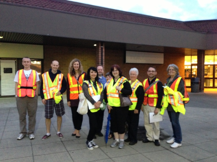 The Vibrant Downtown Task Force on a walk about through Maple Ridge