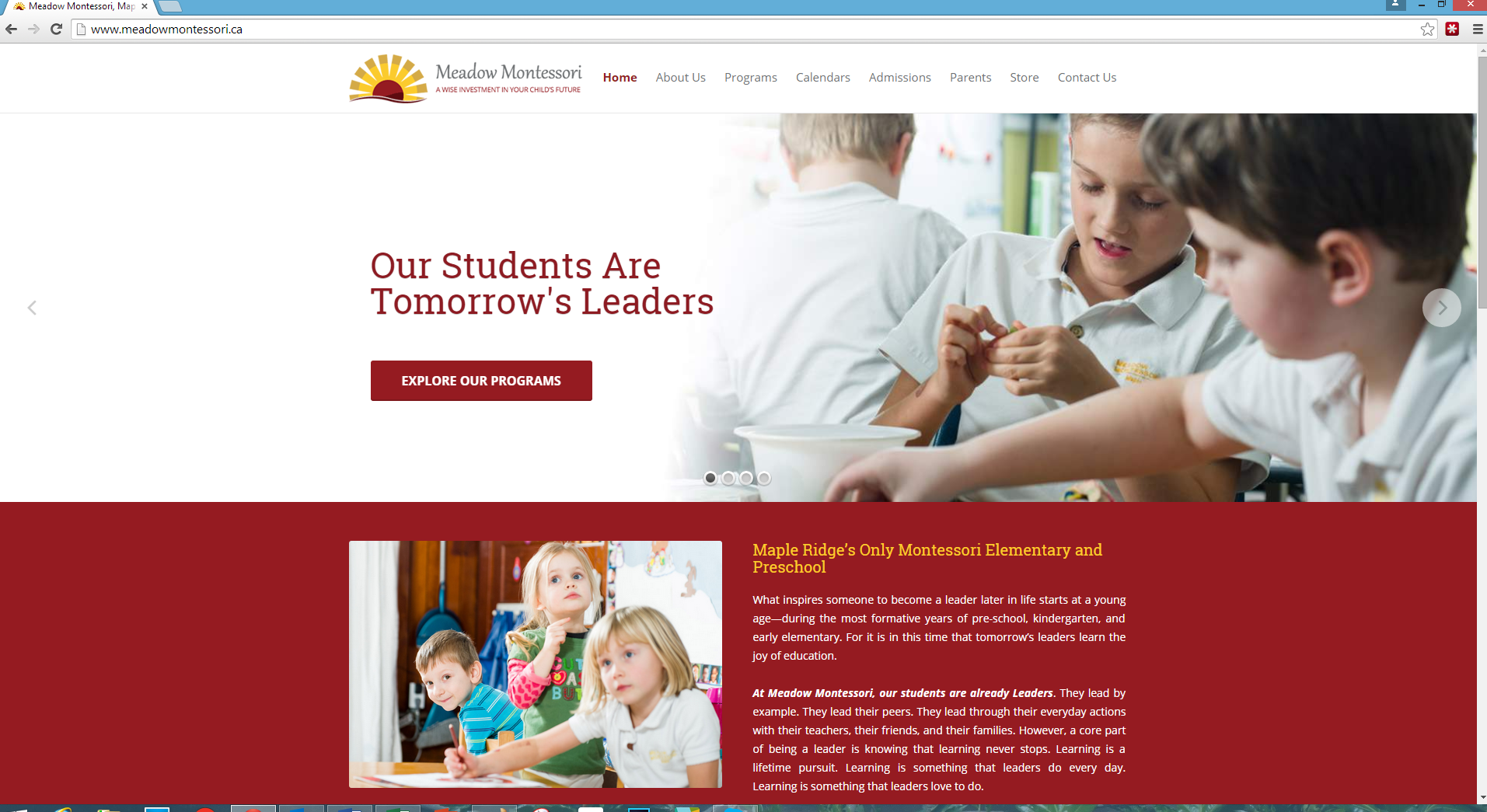 Meadow Montessori Website