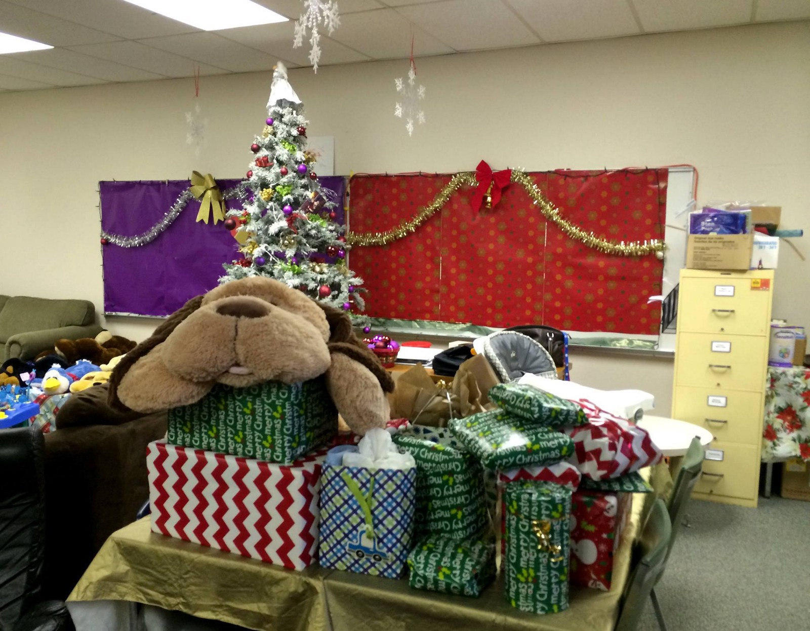 Presents for the Maple Ridge Christmas Hamper Society. Photo from 2014.
