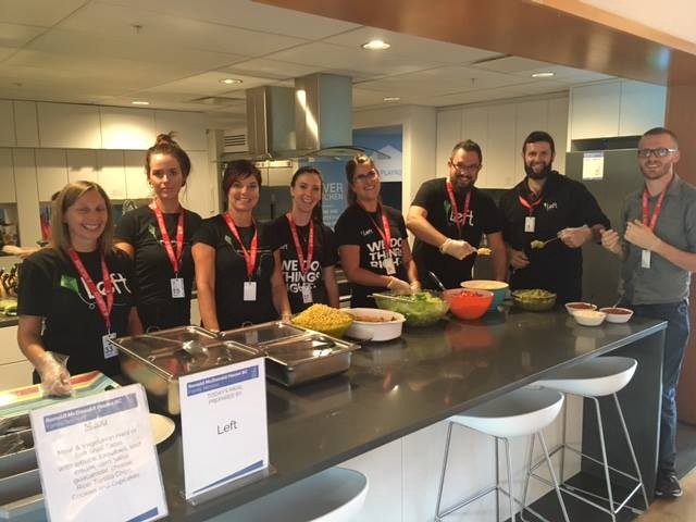 Taco Tuesday at the Ronald McDonald House in Vancouver.